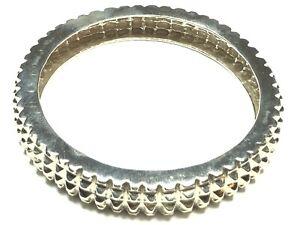 UNIQUE Vintage Ladies SOLID Sterling Silver Bangle Bracelet