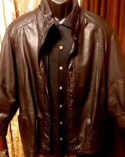 ~!PELLE Leather Milano New York button up Jacket NY Harley Coat Shirt.Size Med,M