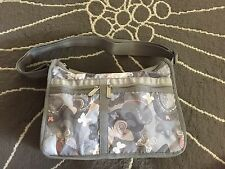 LeSportsac Deluxe Everyday (Style#7507) All A Flutter Grey Gray BNWT