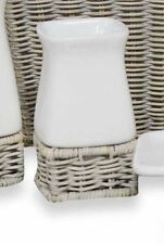 Grey White Tumbler Bath Cup Sleek Ceramic Modern Fun Bathroom Decor Brush Gargle