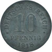 COIN / GERMANY / 10 PFENNIG 1918  #WT17676
