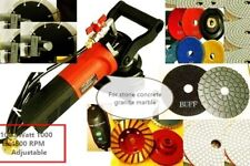 "5"" Wet Polisher Granite Concrete Stone Fabrication cutter Grinder Blade terrazzo"