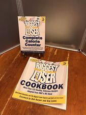 The Biggest Loser Complete Calorie Counter & Cookbook Set Book lot of 2
