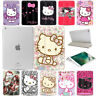 Hello Kitty Smart Magnetic Stand PU Leather Case+Hard Back Cover For Apple iPad