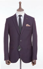Men's Suit Gibson 2 Piece Tailored Fit Burgundy 42R W36 L33