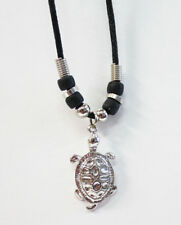 """Turtle! Black Cord 18"""" (inch) Necklace with Turtle Pendant  New! Beach/Nautical."""