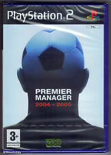 PS2 Premier Manager 2004-2005 (2004), UK Pal, Brand New & Sony Factory Sealed