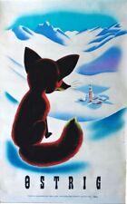 Original vintage poster AUSTRIA FOX ALPS & VILLAGE 1947