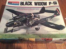 Vintage Monogram - Black Widow P-61 Airplane Model 1/48 scale