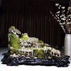 120 cm Chinese Gold-rimmed nanmu wood buffalo boy Tongzi landscape art sculpture