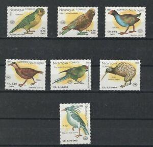 Nicaragua 1813 - 1820 - Birds. Set Of 7 .  MNH. OG.     #02 NIC1813s7