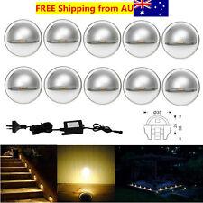 10Pcs Warm White 12V 35mm 0.4W Half Moon Outdoor Yard LED Deck Step Stair Lights