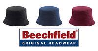 Cappello BEECHFIELD berretto REVERSIBLE BUCKET Hat pescatore reversibile COTONE