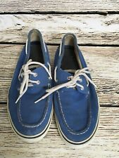 Sperry Top Siders Mens 10 Blue Deck Boat Shoes