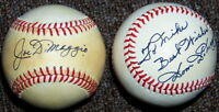 Joe & Dom DiMaggio Signed Autographed Baseball Lot PSA/DNA Pre-Certified READ!