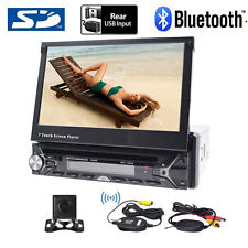 "Single 1Din 7"" GPS Car Stereo DVD CD Radio Player Touch Screen+Wireless camera"