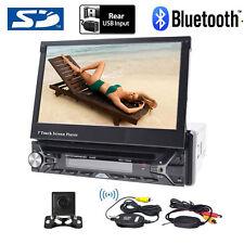 "Single 1Din 7"" GPS Car Stereo DVD CD Radio Player Touch Screen+Wireless camera"
