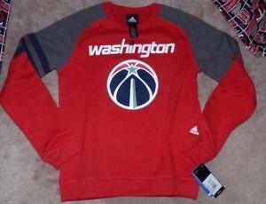 NEW ADIDAS NBA Washington Wizards Crew Sweatshirt Youth Boys M 10 12 NEW NWT