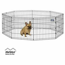 """New listing MidWest Foldable Metal Exercise Dog Pen Pets Playpen 24""""W x 24""""H Indoor Outdoor"""
