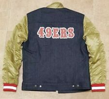 "Levi's NFL San Francisco 49ers Denim Trucker Jacket 38"" small"