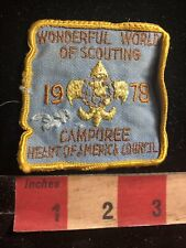 Vtg 1978 WONDERFUL WORLD OF SCOUTING HEART OF AMERICA COUN Boy Scouts Patch 99B1
