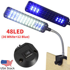 48 Led Flexible Arm Aquarium Lamp Light Clip on Plant Grow Fish Tank Lighting Us