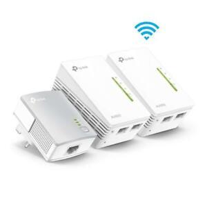 TP-Link AV600 Powerline Universal WiFi Range Extender 2 Ethernet Ports X 3 New