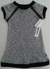 NWT DKNY GIRLS 2 PIECE BLACK/HEATHER GRAY DRESS SIZE 2T $56