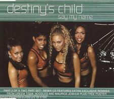 DESTINY'S CHILD - Say My Name (UK 3 Tk CD Single Pt 2/No Poster)