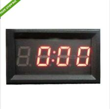 4 Digit 0.4 inch Red LED Digital Electronic Clock for Car Night Vision