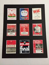 "Liverpool FC Vintage Football Programmes Picture 14"" By 11"" Free Postage"