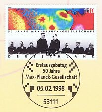 BRD 1998: Max-Planck-Gesellschaft Nr. 1973 mit Bonner Ersttagsstempel! 1A! 1605