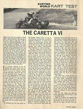 Vintage 1964 Caretta VI Go-Kart Test Report - 5 Photos