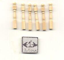Half Scale - Newel Post Dollhouse wood miniature H7012 6pcs  Houseworks