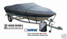 Wake Monsoon Premium Boat Cover Fits V hull Runabouts 17-19 FT Gray