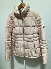 Womens Calvin Klein Size L Long Sleeved Pink Zip Up Puffer Coat with Pockets