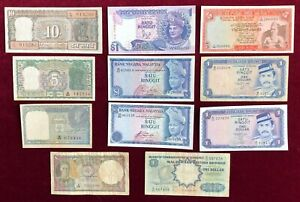 South Pacific     5 Countries,  11 Notes        1940-89        Fine to UNC