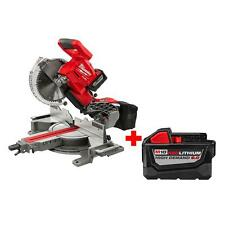 "Milwaukee 2734-21HDP M18 FUEL Dual-Bevel 10"" Slide Compound Miter Saw Kit 9.0Ah"