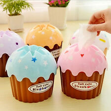 2017 Cute Ice Cream Cupcake Tissue Box Holder Paper Container Cover Home Decor