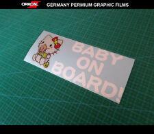 Cute funny hello kitty BABY ON BOARD! WARNING DIY car Decal vinyl Sticker