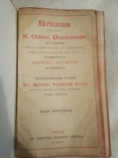 Vintage Catholic Breviarium In Latin Printed in Italy leather bound in case