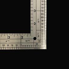 "Fairgate Designer L Square Ruler 14""x 24"" Metric/English calibration"