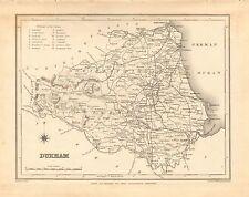 1842 ANTIQUE COUNTY MAP- DURHAM,HARTLEPOOL,SUNDERLAND,DARLINGTON,