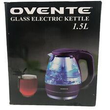 Ovente 1.5L BPA-Free Glass Electric Kettle Fast Heating with Auto Shut-Off