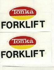 TONKA  SMALL FORK LIFT DECAL SET