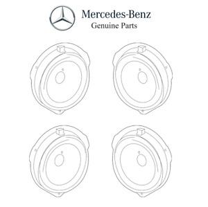 NEW For Mercedes-Benz W218 W212 Set of 4 Front & Rear Door Speakers Genuine