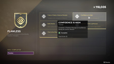 Destiny 2 Flawless Seal only TRIUMPH Confidence is high PS4/XBOX/PC