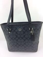 New COACH F23867 F58294 Zip Top Tote Handbag Purse Bag Black Smoke/Black