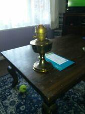Vintage Copper Base Oil Lamp 27cm/51cm
