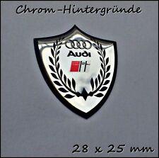 Audi S-line 3D Logo Aufkleber- Abzeichen Set für Schlüssel, Handy, Chrom-Effekt